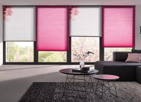 Wabenplissee-Sakura-pink